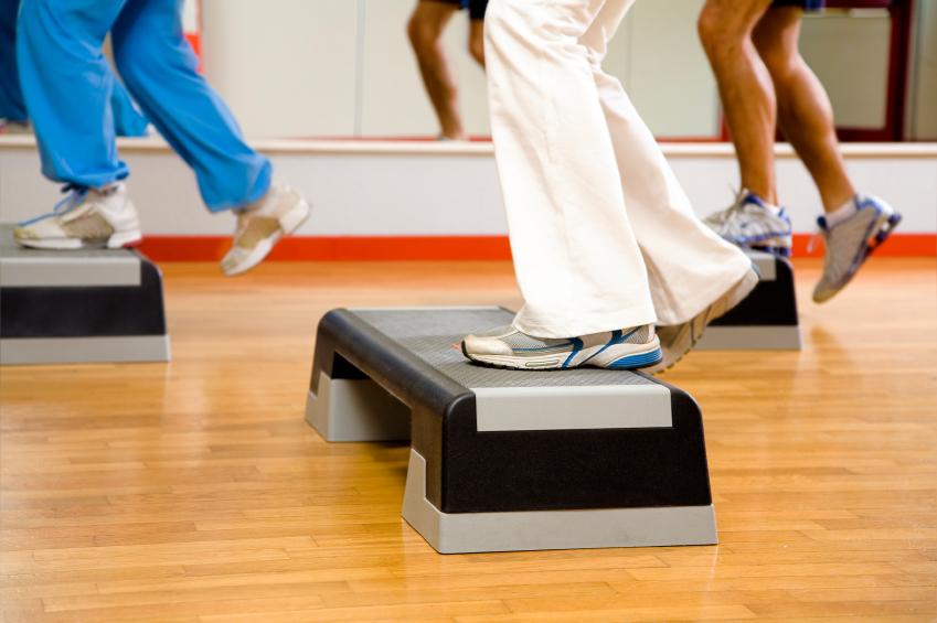 Step Aerobic Gruppenstunde